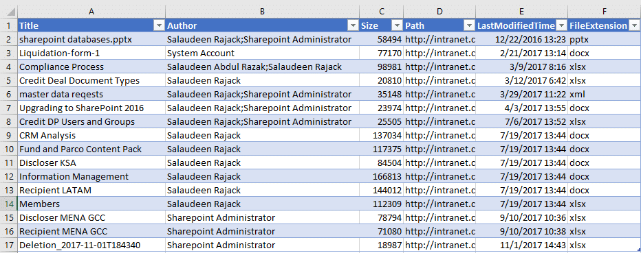export sharepoint search results to csv using powershell