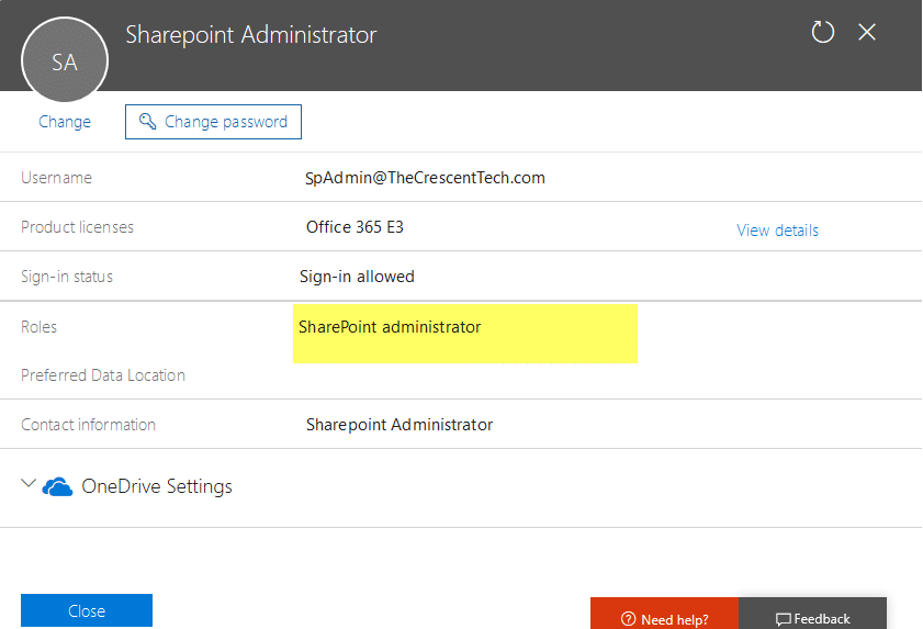 get all sharepoint online administrators from office 365