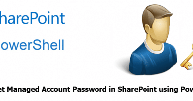 get managed account password in sharepoint using powershell 390x205