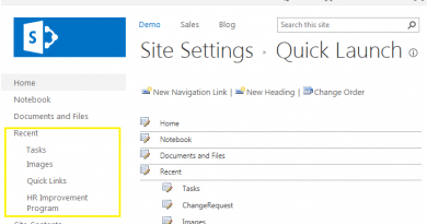 hide recent section from sharepoint 2013 quick launch 390x205