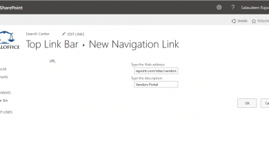 how to add a link to top navigation bar in sharepoint online 390x205