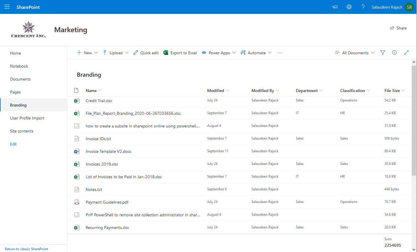 how to add file size column in sharepoint online