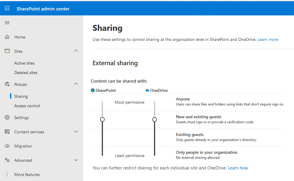 how to allow external users access to sharepoint online