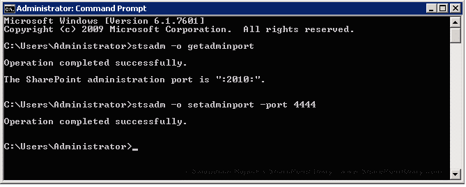 How to change SharePoint 2013 central administration port