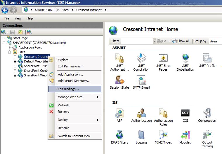 change sharepoint 2010 web application port number