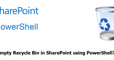 how to empty sharepoint recycle bin using powershell 390x205