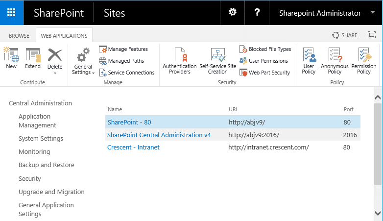 how to get all web applications sharepoint using powershell
