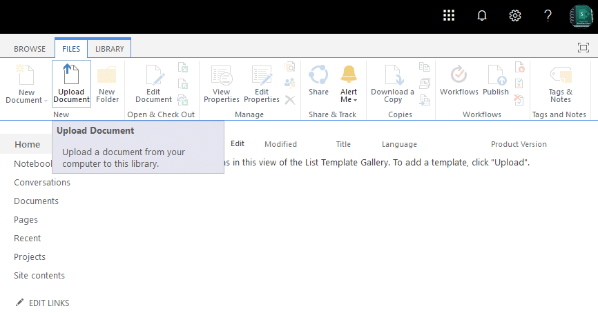 how to import list template in sharepoint online