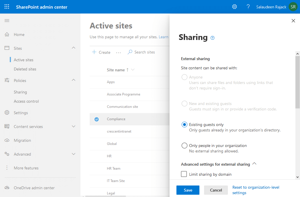 how to invite external users to sharepoint online