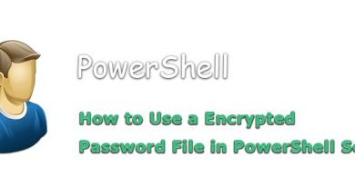 how to use a encrypted password file in powershell scripts 390x205