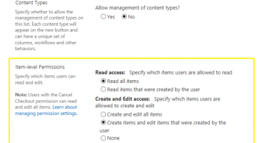 item level permissions on sharepoint document library 390x205