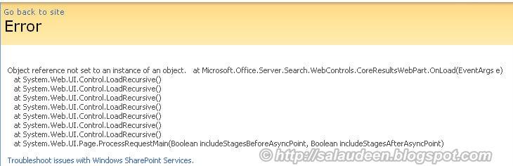 moss 2007 search error