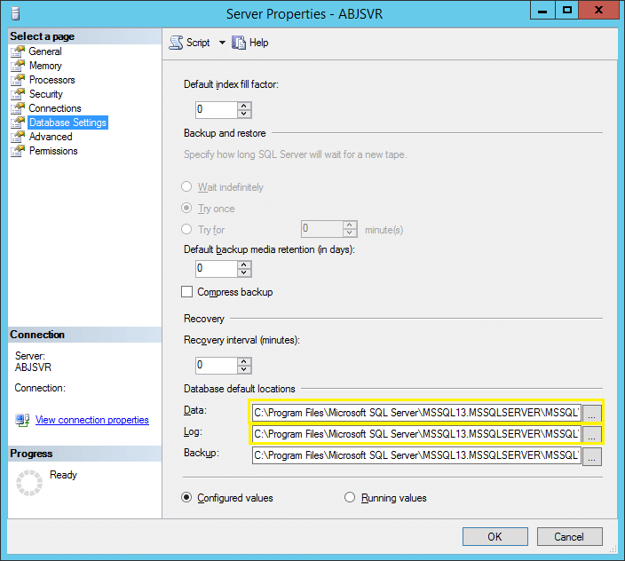 move sharepoint database from one drive to another