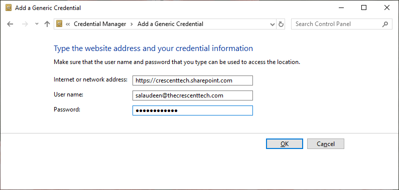pnp powershell save credentials to avoid password prompt