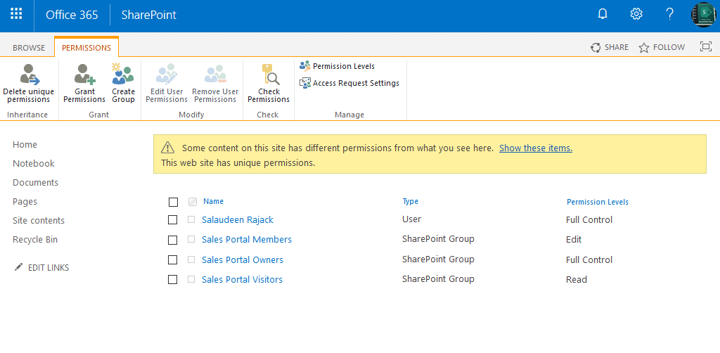 powershell create site with unique permission in sharepoint online