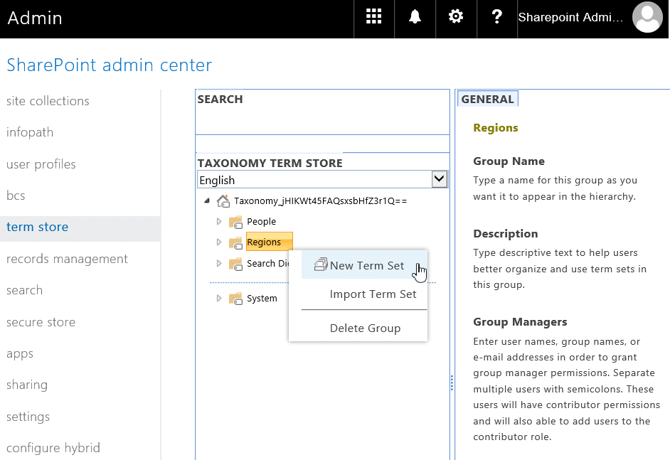 powershell to create term set in sharepoint online