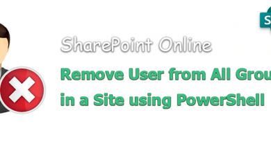 powershell to remove user from all groups in a sharepoint online site 390x205