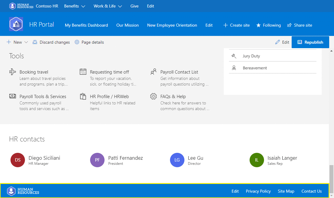 provision footer in sharepoint online communication site using powershell