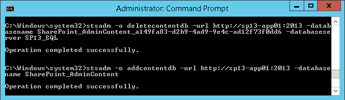 How to Rename SharePoint 2013 Central Admin Database to Remove GUID?