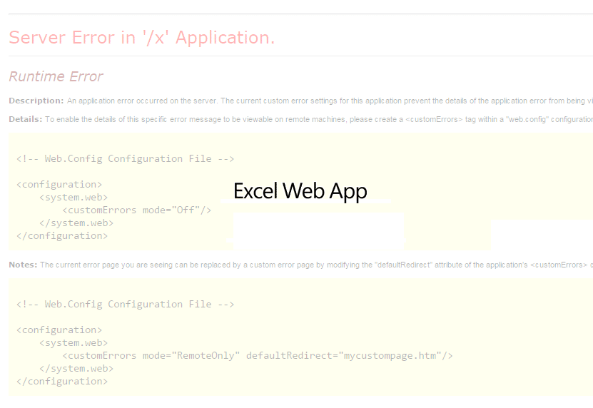 SharePoint Office Web Apps Server Error in '/x' Application