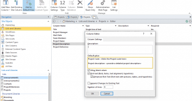 set default value for multiple lines of text column in sharepoint online 390x205