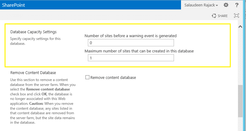 Limit Maximum Number of Site Collections in sharepoint