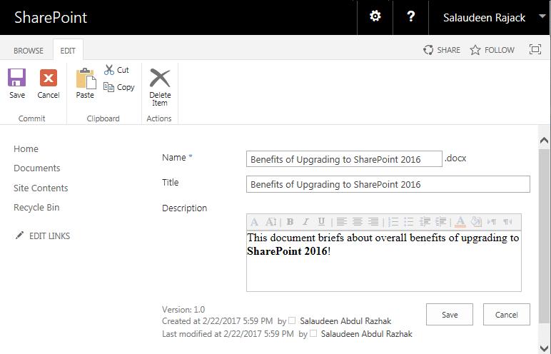 sharepoint 2013 document library rich text column