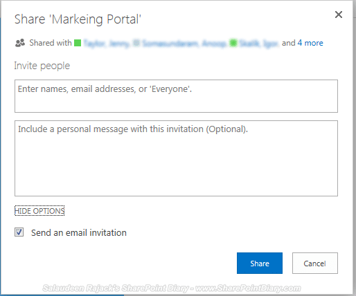 SharePoint 2013 Share Functionality