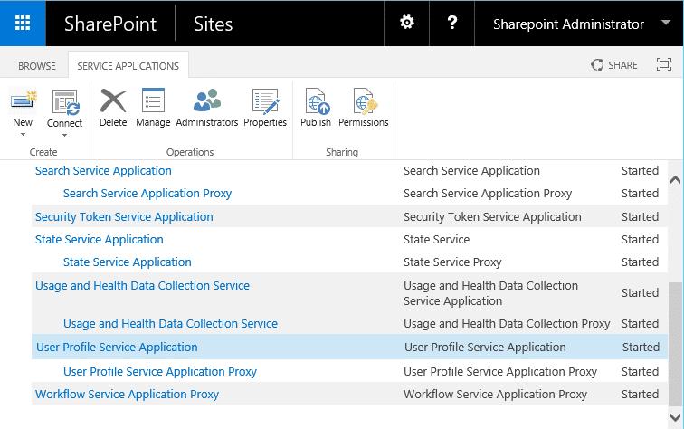 sharepoint 2016 create user profile service application powershell