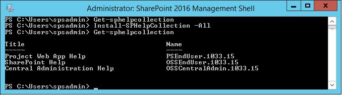sharepoint 2016 unfortunately help seems to be broken
