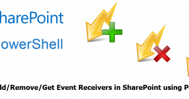 sharepoint add remove event receiver using powershell 390x205
