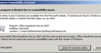 sharepoint on windows server 2008 R2 this program is blocked due to compatibility issues 390x205