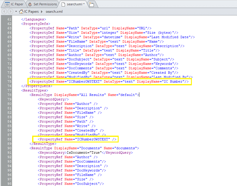 sharepoint online add custom property to advanced search drop down