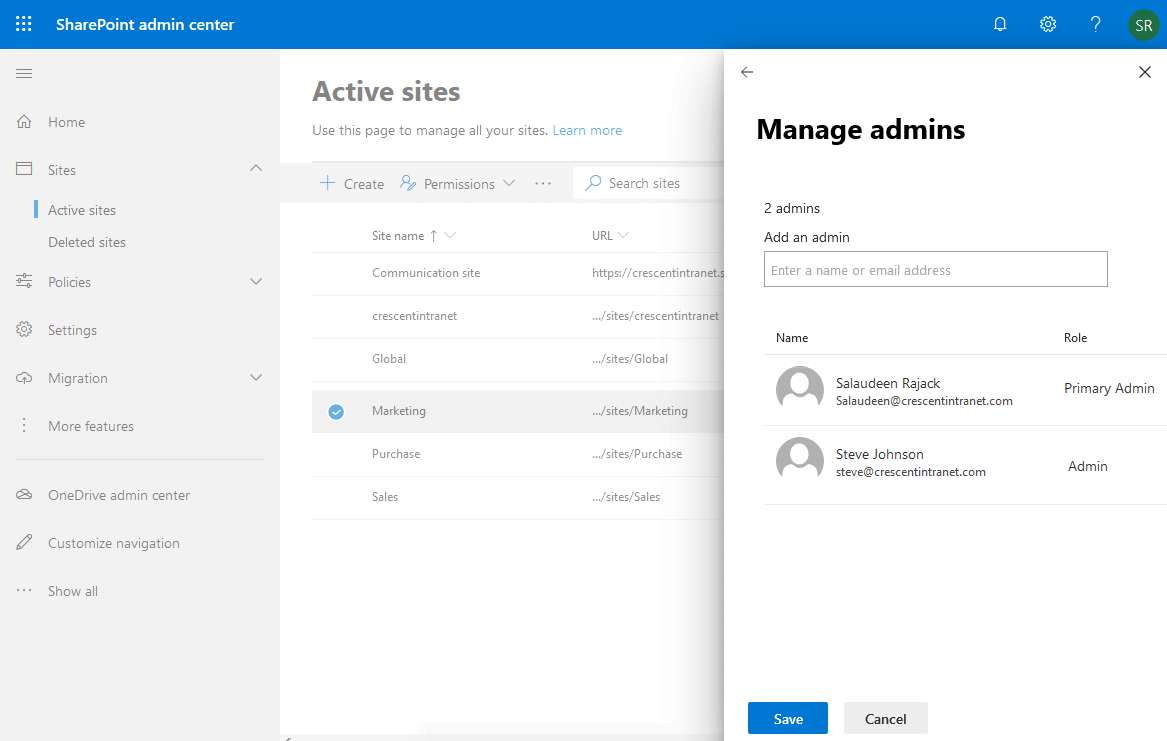 sharepoint online powershell set site collection administrator