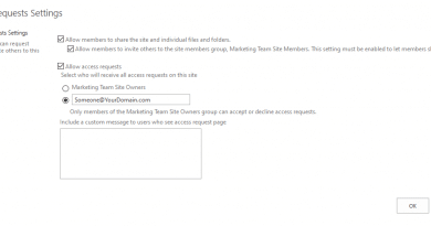 sharepoint online change access request email using powershell 390x205