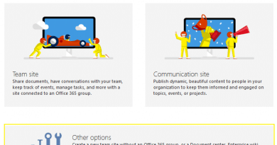 sharepoint online create modern site without group 390x205