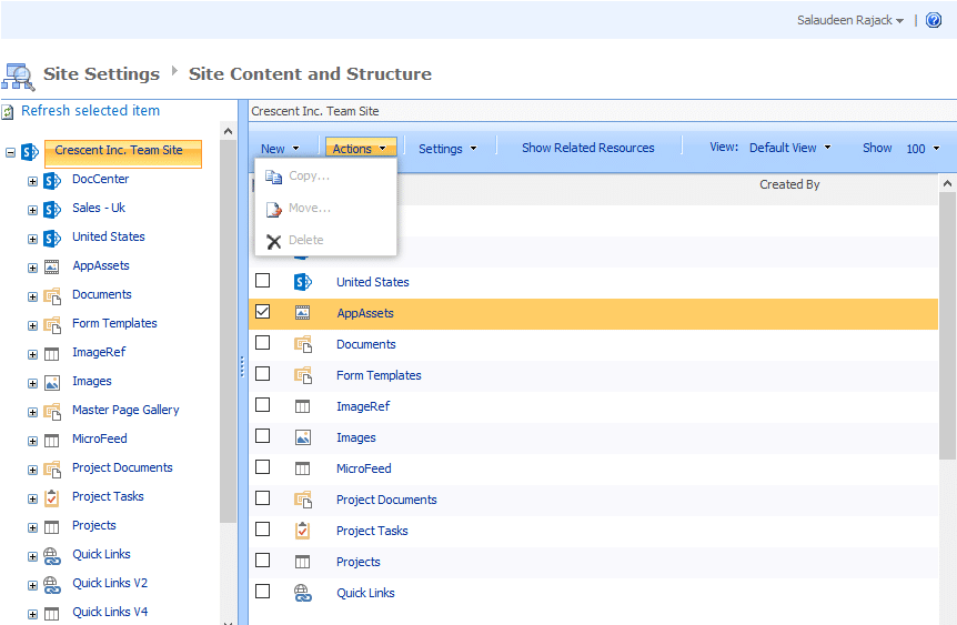 sharepoint online delete this document Library missing