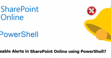 sharepoint online disable alerts using powershell 390x205