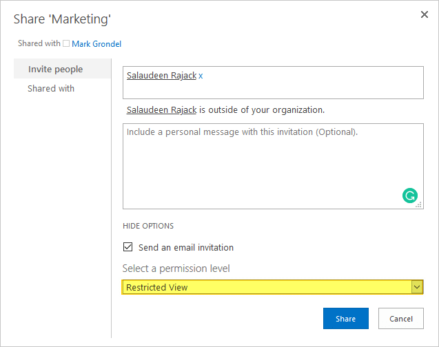 sharepoint online document library disable download