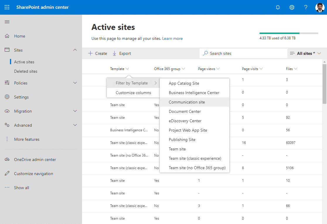 sharepoint online get all communication site collections