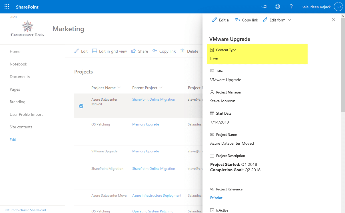 sharepoint online how to remove content type field from edit form