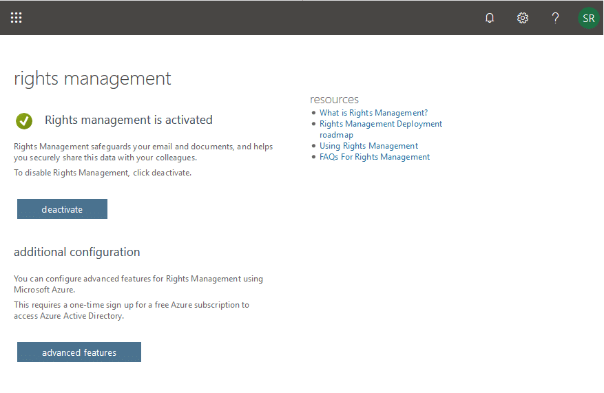 sharepoint online information rights management (irm)
