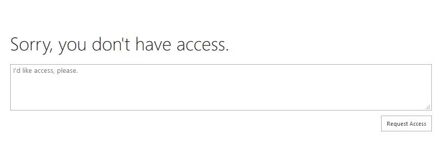 sharepoint online navigation settings access denied