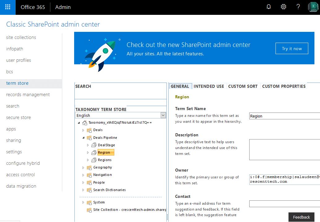 sharepoint online pnp powershell to delete termset from termstore