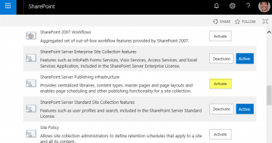 sharepoint online powershell check if feature is activated 390x205