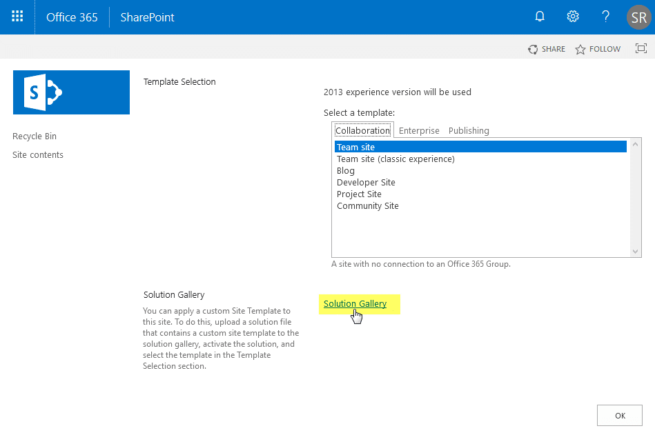 sharepoint online powershell create site collection with custom template