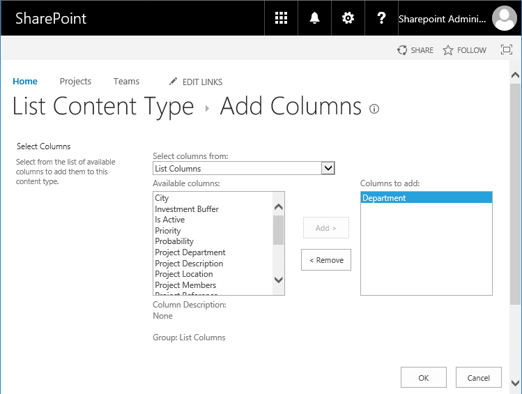 sharepoint online powershell add field to list content type