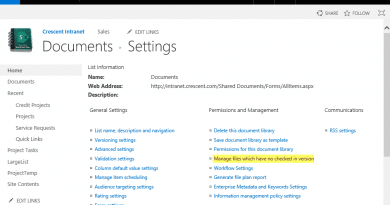 sharepoint powershell manage files which have no checked in version 390x205