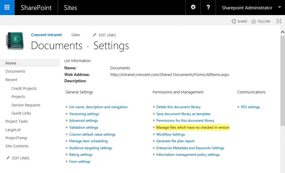 sharepoint powershell manage files which have no checked in version