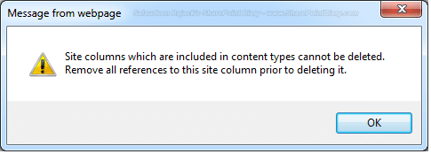 sharepoint find field usage